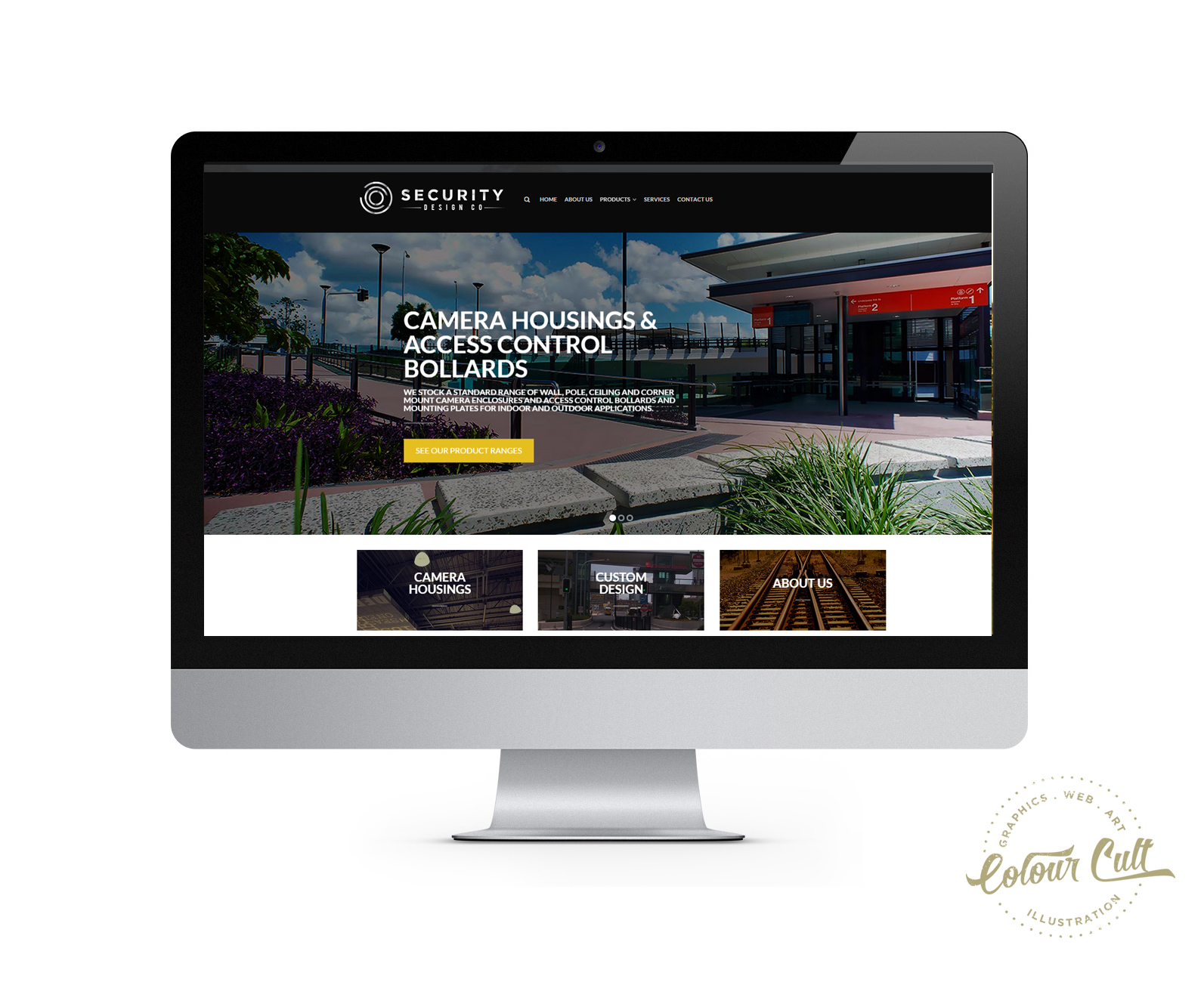 Security Design Co website by Tegan Swyny of Colour Cult, North Brisbane graphic design.