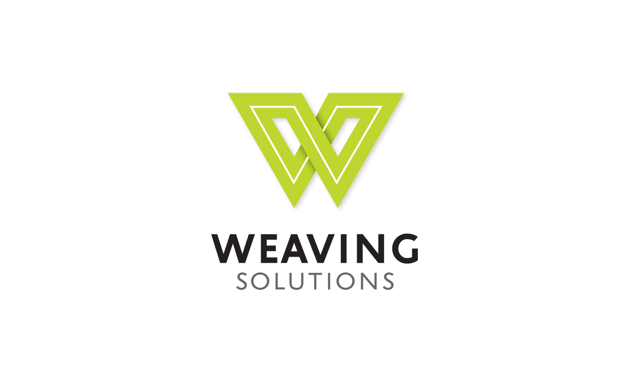 Weaving Solutions logo, business card and stationery design by Tegan Swyny of Colour Cult, Graphic Designer North Brisbane.