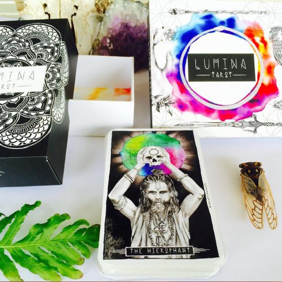 Inner Hue Lumina Tarot illustration and design by Tegan Swyny or Colour Cult, Brisbane.
