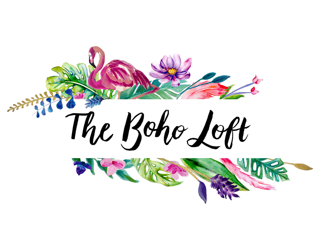 The Boho Loft Logo Design By Tegan Swyny Of Colour Cult Graphic Brisbane