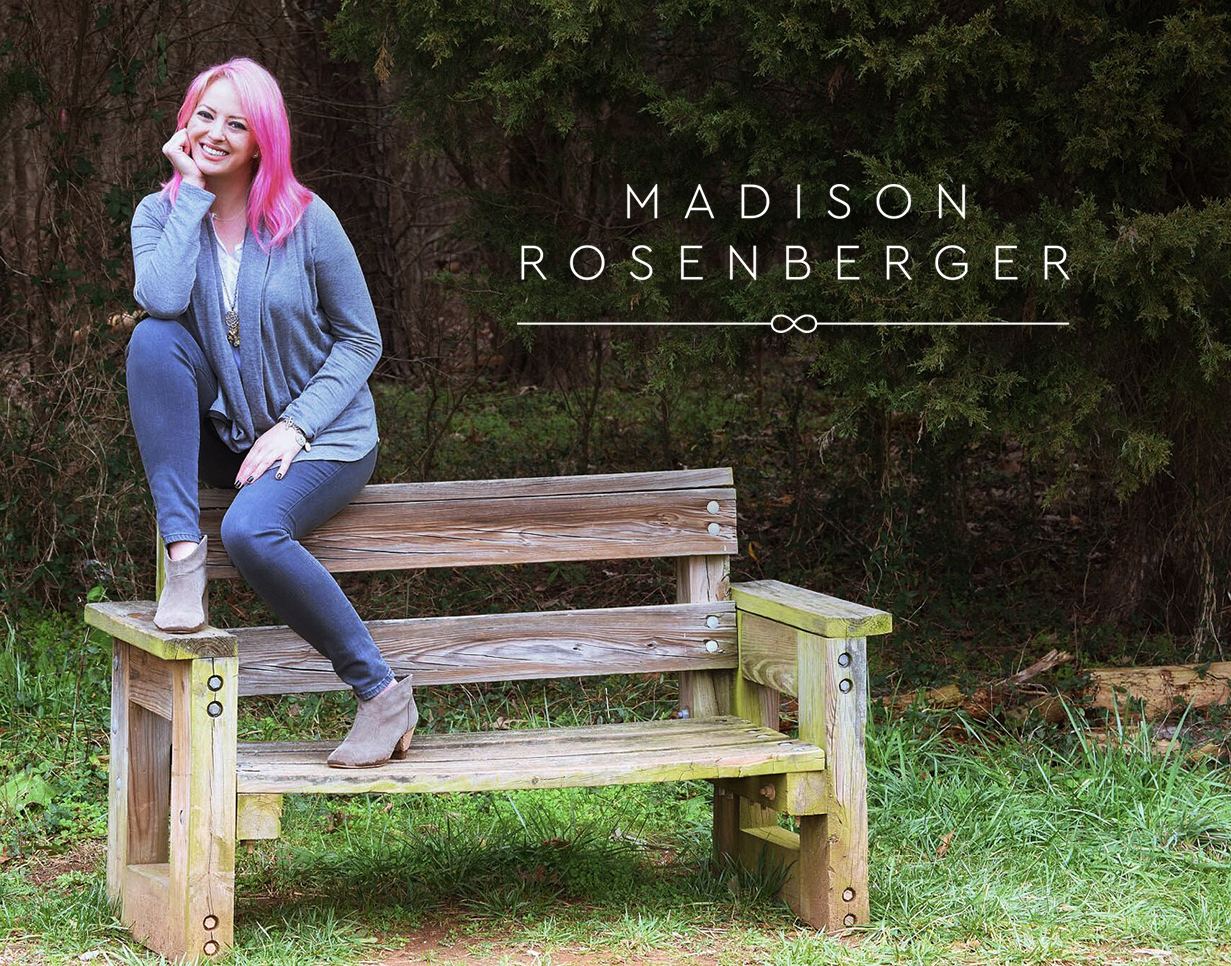 Madison Rosenberger logo design by Tegan Swyny of Colour Cult Graphic Design, Brisbane.