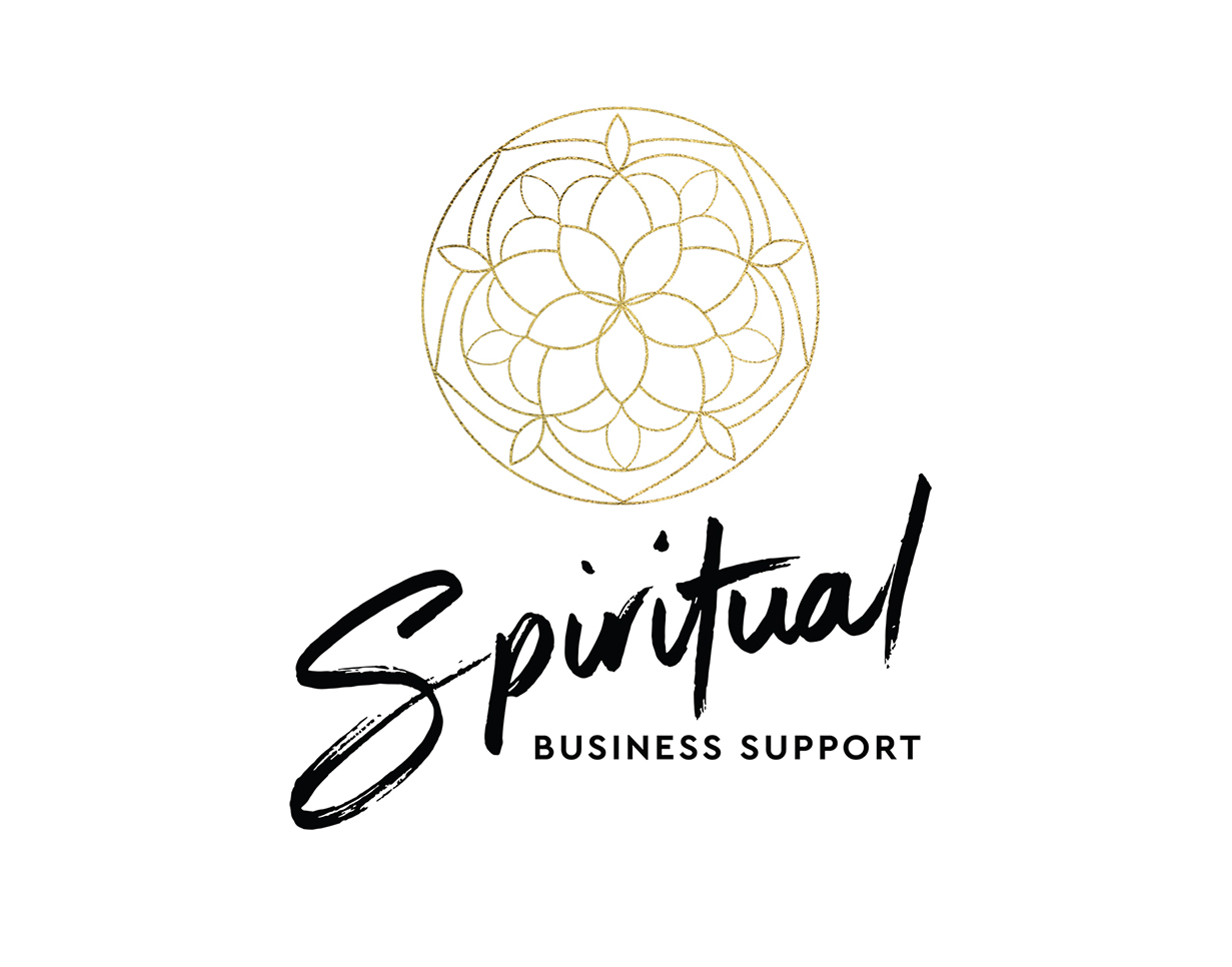 Spiritual Business Support sacred geometry logo by Tegan Swyny of Colour Cult, Graphic Design Brisbane.